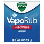 Vicks VapoRub Cough Suppressant Chest Rub Ointment, Original, 6 oz