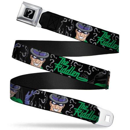 Seatbelt Belt - DC Comics - Riddler V.2 Adj 24-38' Mesh New rda-wrd001 - image 1 of 1