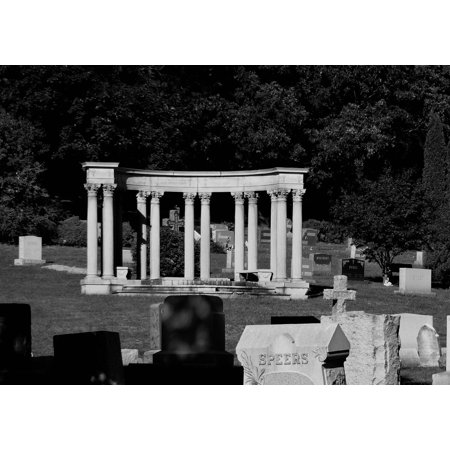Greek Column Decorations (LAMINATED POSTER Pillars Graveyard Greek Columns Cemetery Poster Print 24 x)