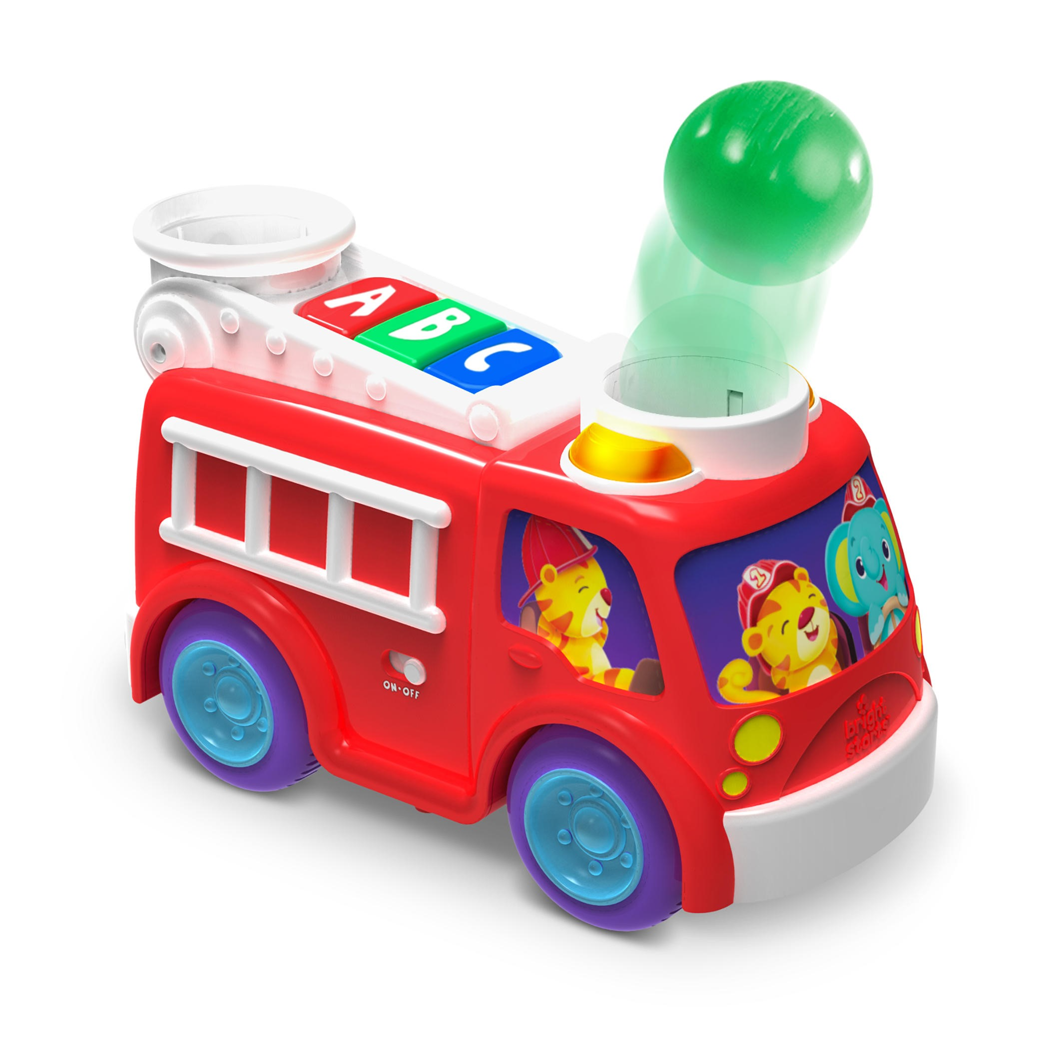 Bright Starts Roll & Pop Fire Truck Toy