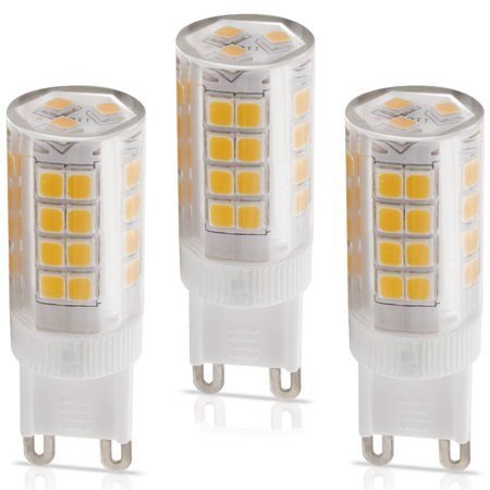 3 Pack 110v 5w G9 Led Bulb 40w Equivalent 2700k Warm White Light