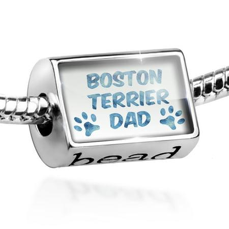 Bead Dog & Cat Dad Boston Terrier Charm Fits All European -