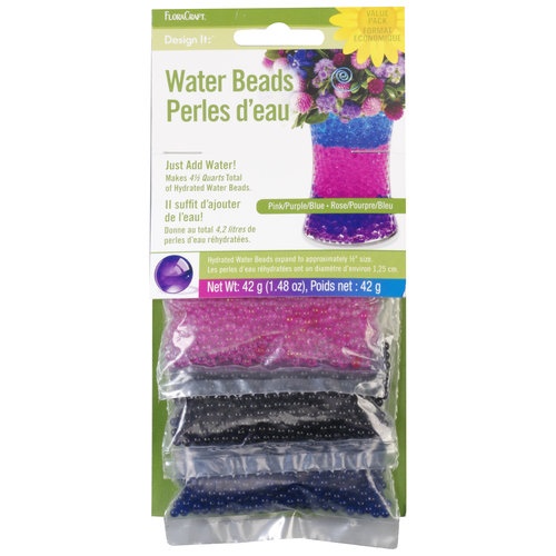 FloraCraft Design It Assorted Dehydrated Cool Water Beads, 1 Each