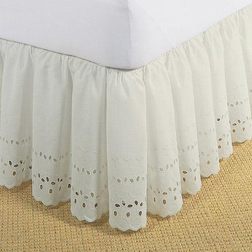 Levinsohn Eyelet Ruffled Bedding Bed Skirt Walmartcom