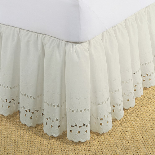 Levinsohn Eyelet Ruffled Bedding Bed Skirt