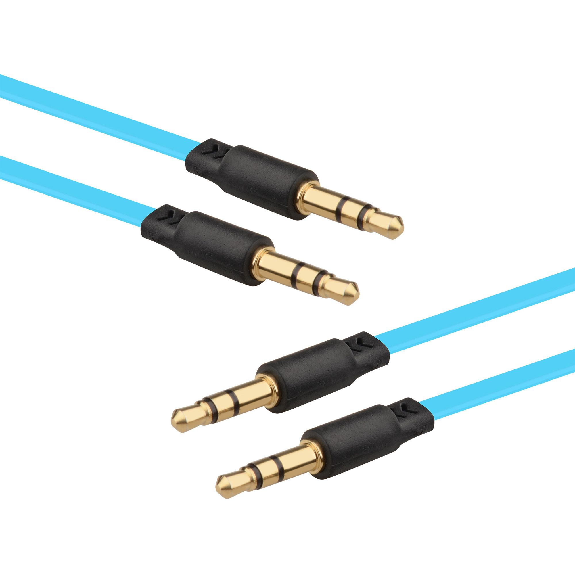 2 Pack 3.5mm Audio Cable by Insten 3' 3.5mm Male to Male Audio Cable for Soundbar Smartphone Cell phone Mobile iPhone iPod iPad MP3 MP4 Tablet PC Laptop Music Out to Speaker Car Aux Audio System