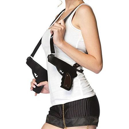 Leg Avenue Gangster Double Gun Zipper Holster](Leg Gun Holster Halloween)