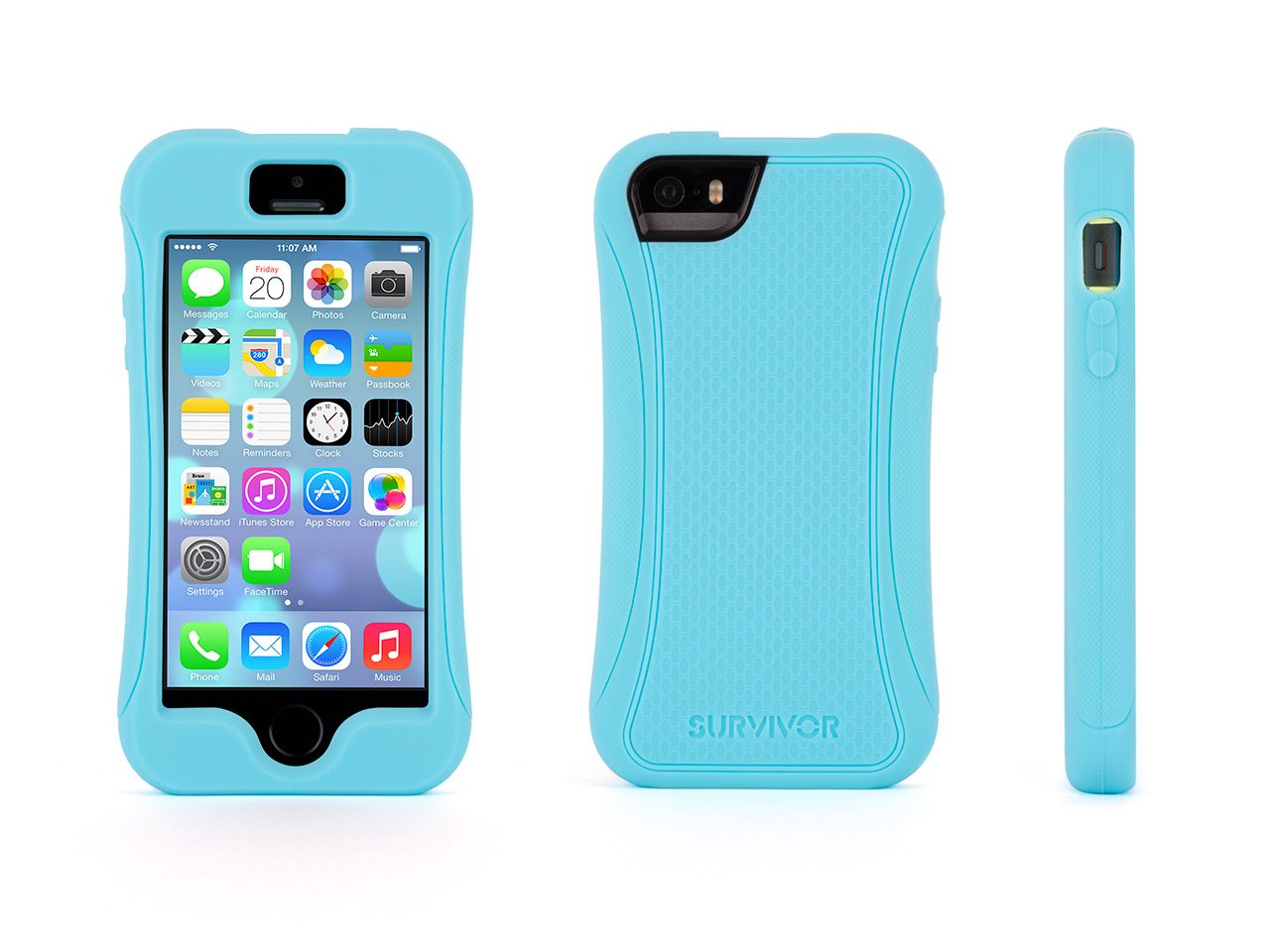 Griffin Technology Survivor Slim for Apple iPhone 5 5S, Turquoise by Griffin Technology