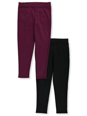Colette Lilly Girls' Basics 2-Pack Fleece Jeggings