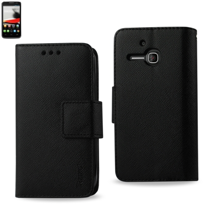 promo code f9088 16c1f Wallet Case 3 In 1 For Alcatel One Touch Evolve 5020T Black With Interior  Leather-Like Material And Polymer Cover