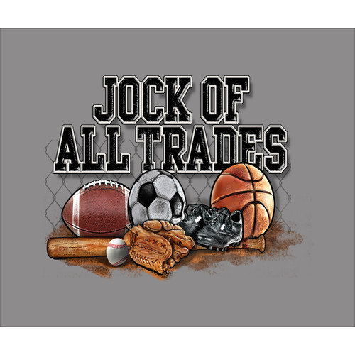 Stupell  Jock of All Trades Sports Balls Art 16-inch x 20-inch Canvas