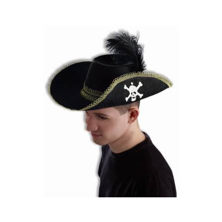 PIRATE HAT W/SKULL & FEATHER](Pirate Hat Cheap)