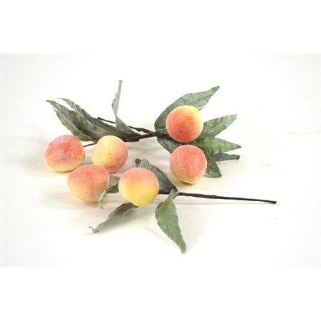 Distinctive Designs F-731 Fruit Peach Picks, Each with 2 Peaches and Leaves - Pack of 24