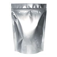 50 PCS Aspire Heat Sealable Silver Foil Stand Up Pouch Bags, Mylar Zip lock Pouch Bags w/ Notch, FDA Compliant-5.5 x 7.5 x 3 inch/4 oz