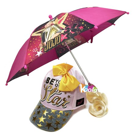 Little Accessories Collection - Little Girl's JoJo Siwa Collection Accessory, purple umbrella w/Ponytail Cap Hat