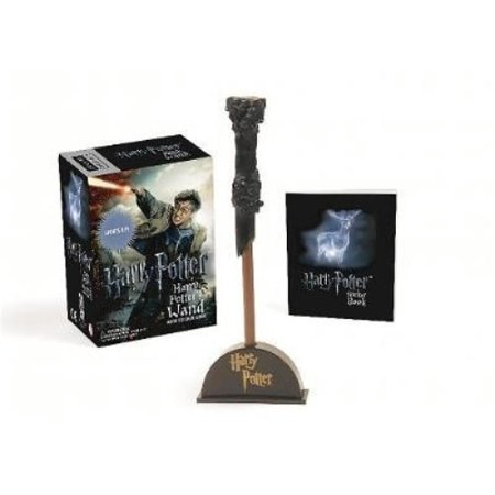 Harry Potter Wizards Wand With Sticker Book  Lights Up