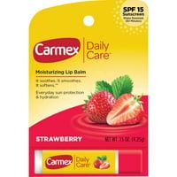 Carmex Daily Care SPF 15 Strawberry Lip Balm Stick, 0.15 Oz.