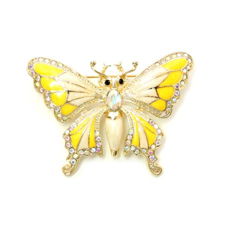 Sequin Butterfly Pin (Gorgeous Crystal Butterfly Pin Brooch - MultiColored)