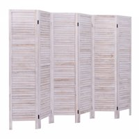 Product Image Giantex 6 Panel Room Divider Furniture Clic Venetian Wooden Slat Home 67 In Tall