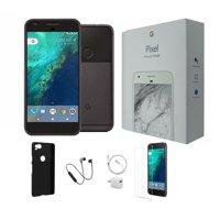 Open Box | Google Pixel 32GB | Unlocked | Bundle: Tempered Glass, Case, Wireless Headphones & Charger.