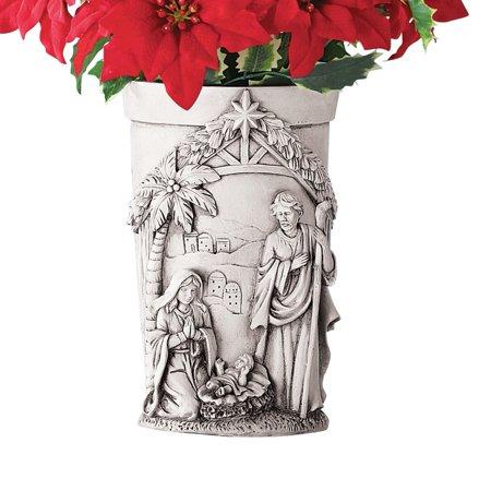 Nativity Christmas Memorial Vase Grave Decoration for Flowers - Diy Halloween Grave Decorations