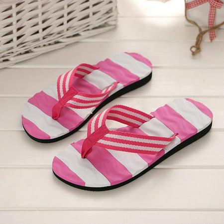 b70bb12195da32 DZT1968 - DZT1968 Women Summer Sandals Slipper Indoor Outdoor Flip-flops  Beach Shoes - Walmart.com