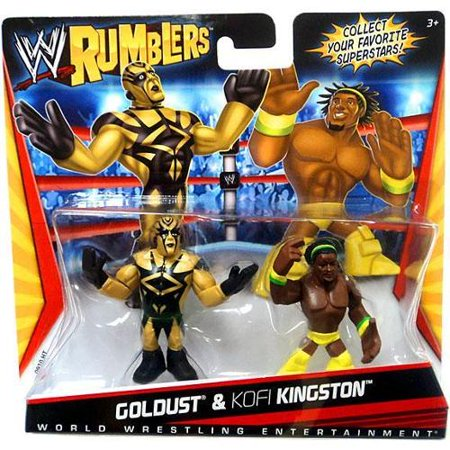 Goldust & Kofi Kingston Yellow Outfit Mini Figure 2-Pack WWE - Wwe Outfits