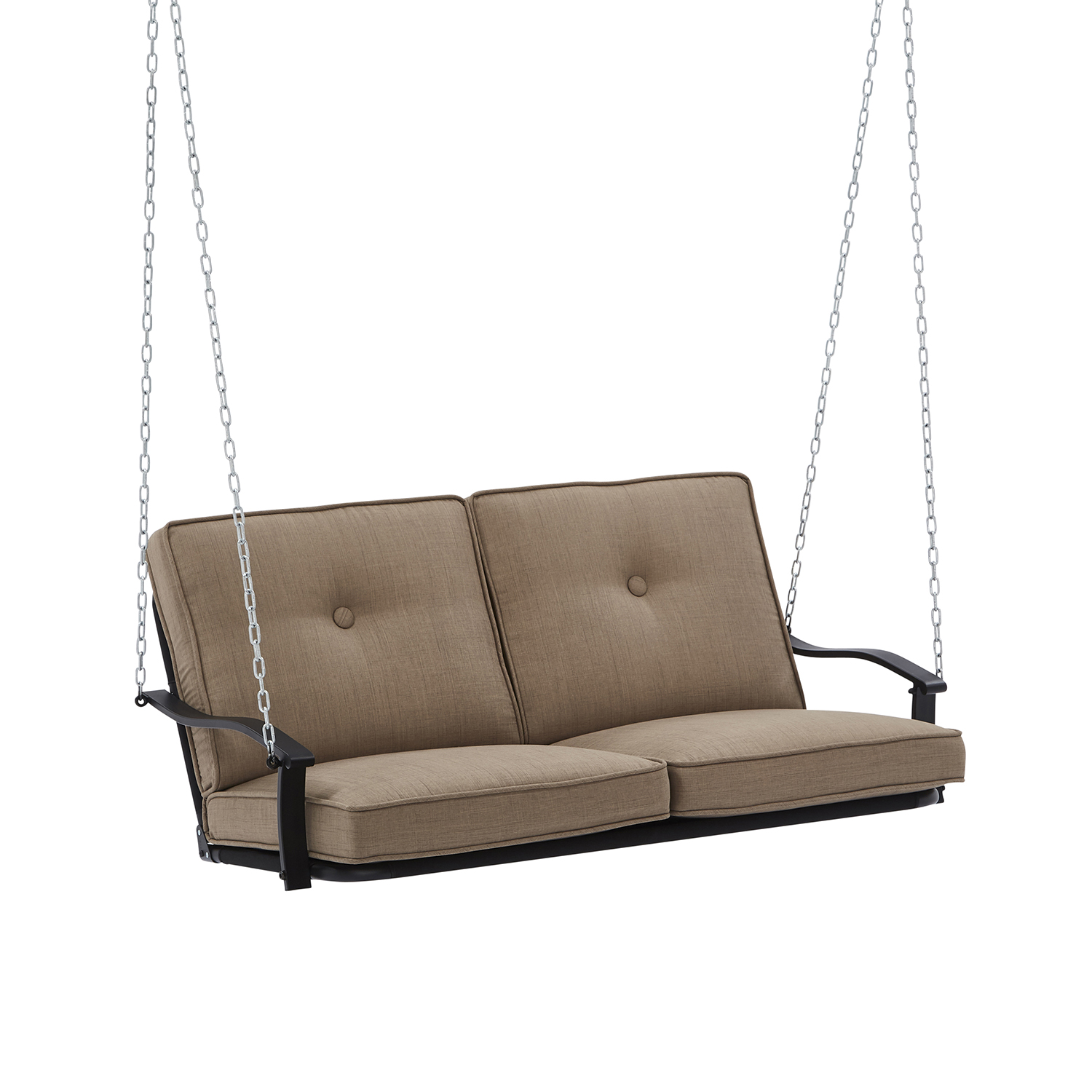 Outdoor Patio Deck Mainstays Belden Park 2 Seat Cushioned Porch Swing Sofa 2