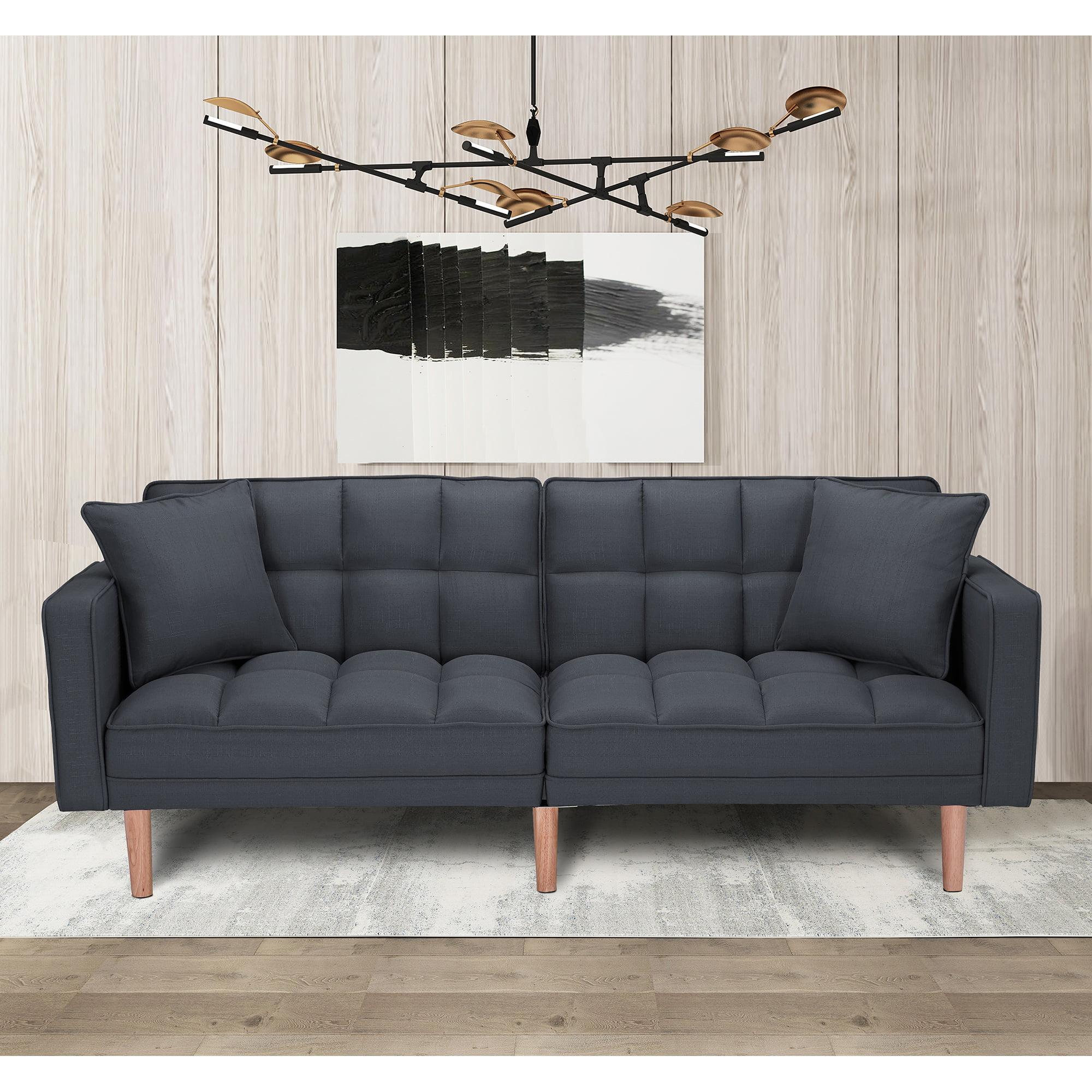 Hommoo Convertible Futon Sofa Bed, Sleeper Sofa With 2 ...