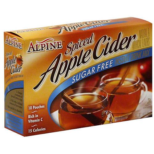 Alpine Spiced Apple Cider Sugar Free Instant Drink Mix, 10ct (Pack of 12)