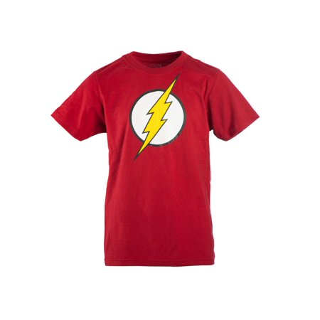 Boy's Red DC Comics Flash Logo with HD Ink Short Sleeve - The Flash Kids