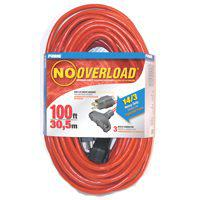Prime Wire and Cable CB614735 No Overload Extension Cords, Outdoor, 100 Ft