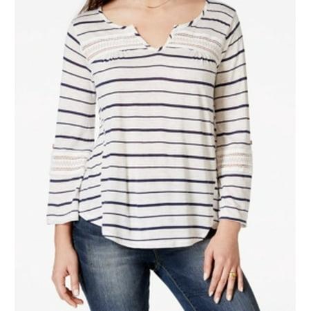 American Rag NEW White Striped Print Women