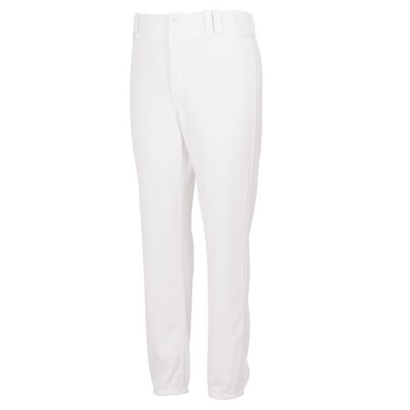 Youth Double Knit Base Ball Pant Pink Tint, White - Small