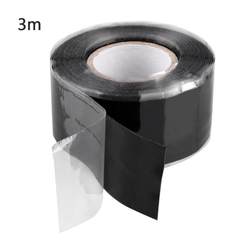 Waterproof Silicone Rubber Tape Self-adhesive Insulation Seal Melt Pipe H8E6