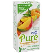 Crystal Light Pure Tangerine Mango On-The-Go Powdered Drink Mix, 7 ct - 0.14 oz Packets