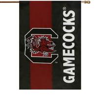 """South Carolina Gamecocks 28"""" x 44"""" Double-Sided Embellish House Flag"""