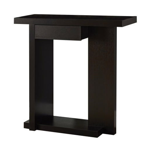 "Monarch Accent Table 32""L   Glossy White   Black Hall Console by Monarch Specialties"