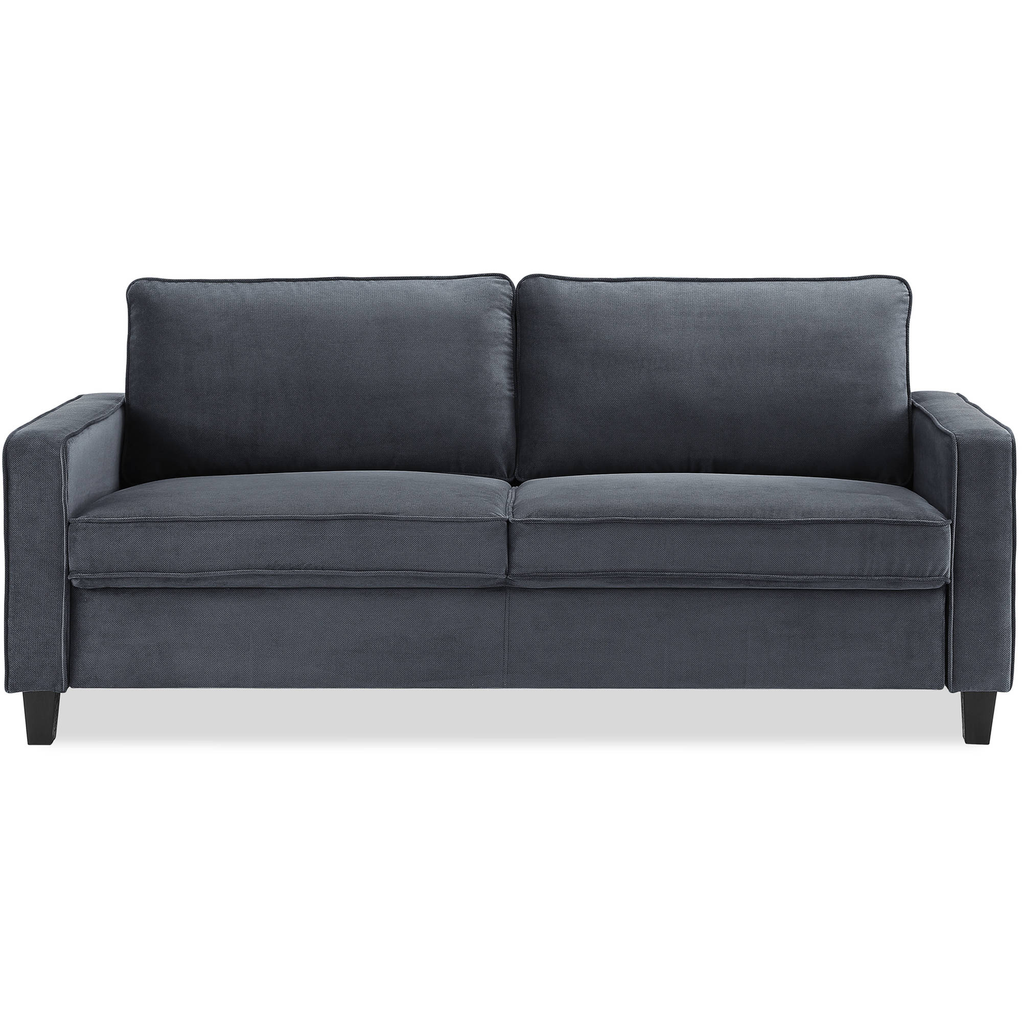 Gray microfiber sectional sofa casual black gray for Black microfiber chaise