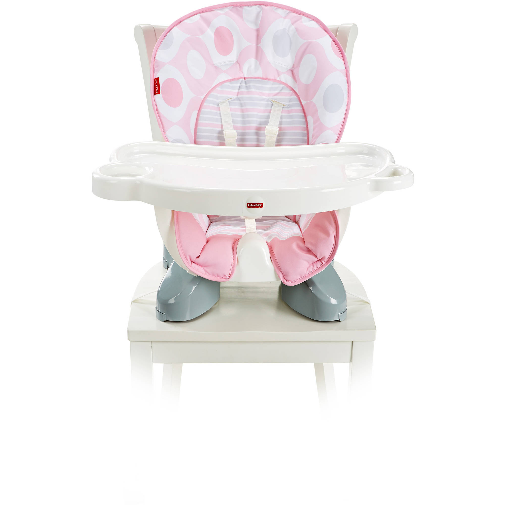 Fisher Price SpaceSaver High Chair Pink Ellipse by Fisher-Price