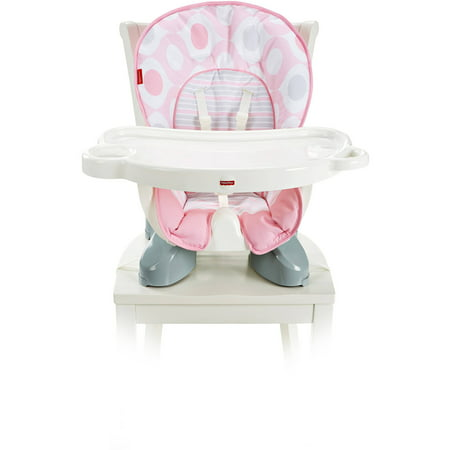 Fisher Price Spacesaver High Chair   Pink Ellipse