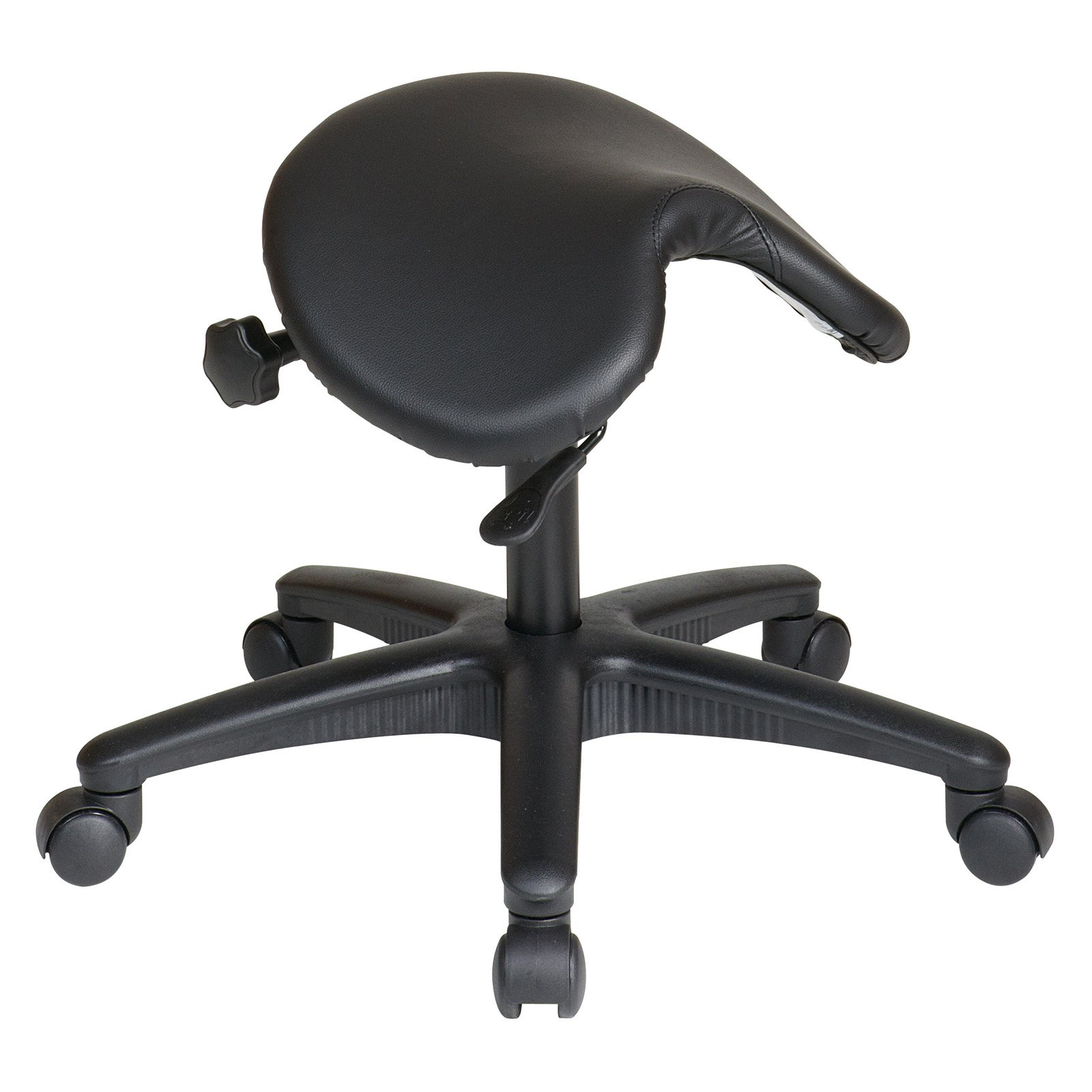 Pneumatic Drafting Stool with Saddle Seat and Seat Angle Adjustment