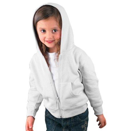 f82c3044 Rabbit Skins 3346 Toddler's Full-Zip Fleece Hoodie - Walmart.com