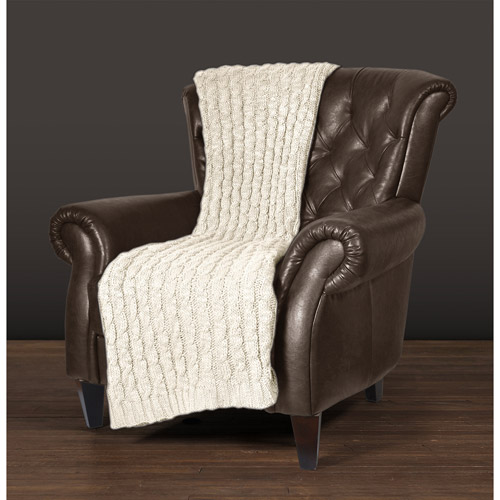 "East End Living 50"" x 60"" Cable Knit Throw"
