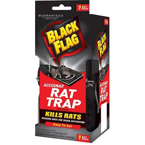 Black Flag Plastic Snap Rat Trap