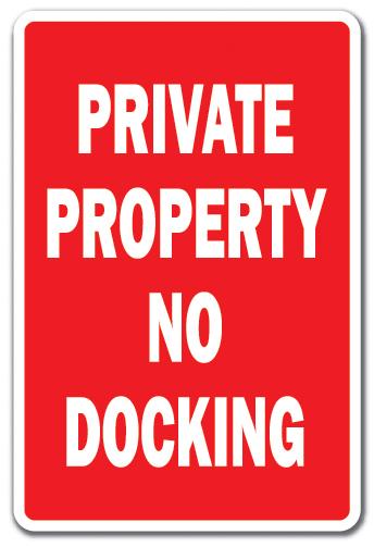12x18 Metal No Motor Boat Sign Boat Docks Security