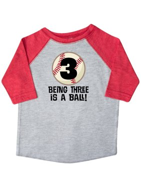 50777ab9 Product Image 3rd Birthday Baseball 3 year Old Boy Toddler T-Shirt