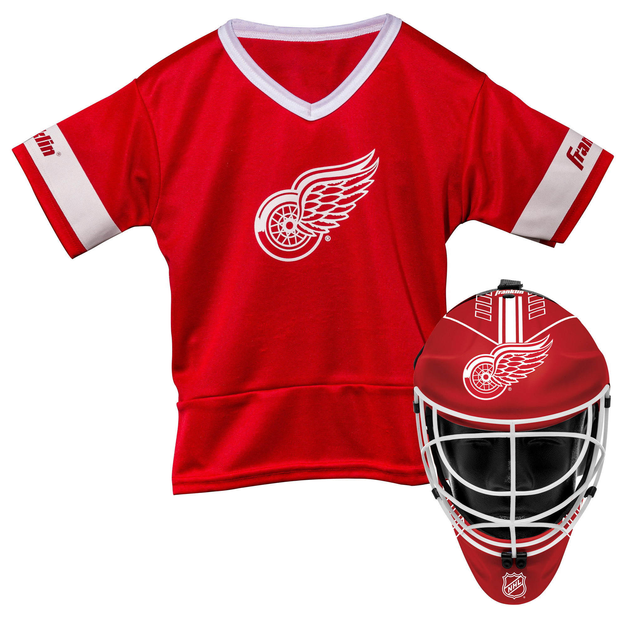 Franklin Sports NHL Detroit Red Wings Youth Team Uniform Set