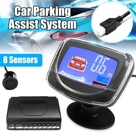 8 Sensors Rear Front Car Parking Reversing LCD Monitor Display Radar System Kit 10 Radar Systems