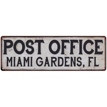 Miami Gardens, Fl Post Office Personalized Metal Sign Vintage 6x18 106180011236](Miami Gardens Fl)